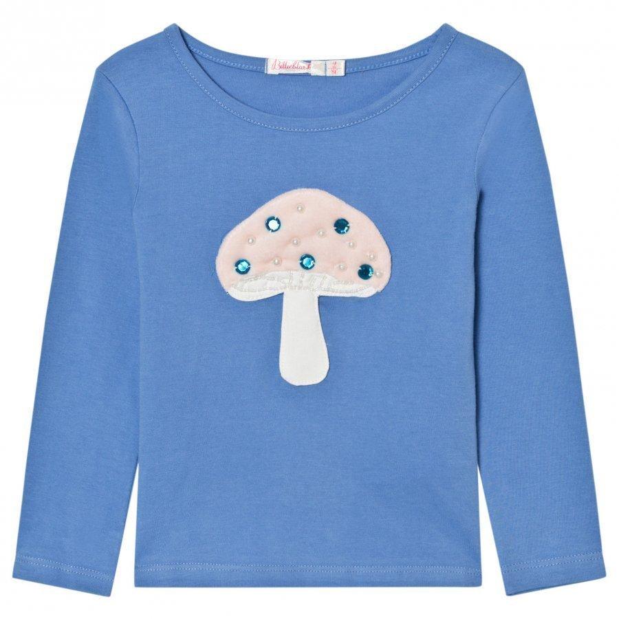 Billieblush Blue Mushroom Applique Tee T-Paita
