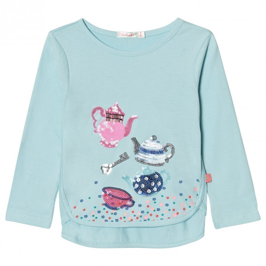 Billieblush Blue Sequin Tea Party Tee T-Paita