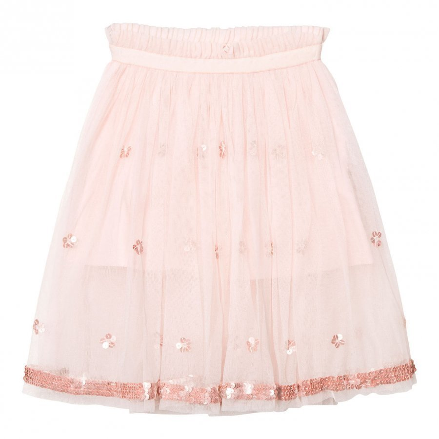 Billieblush Blush Pink Ballerina Length Skirt With Sequin Detail Maxihame