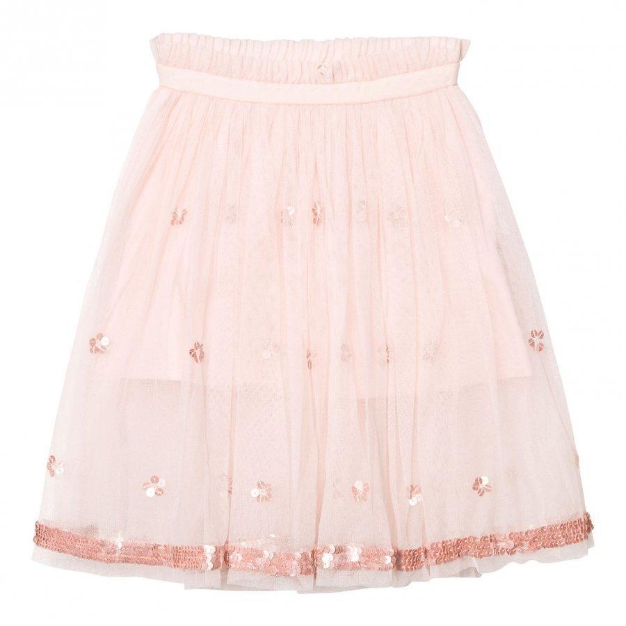 Billieblush Blush Pink Ballerina Length Skirt With Sequin Detail Maxihame