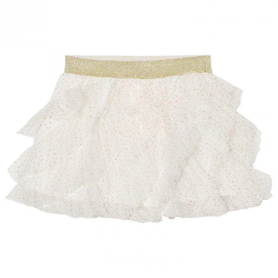 Billieblush Cream Gold Glitter Ruffled Tutu Skirt Tyllihame