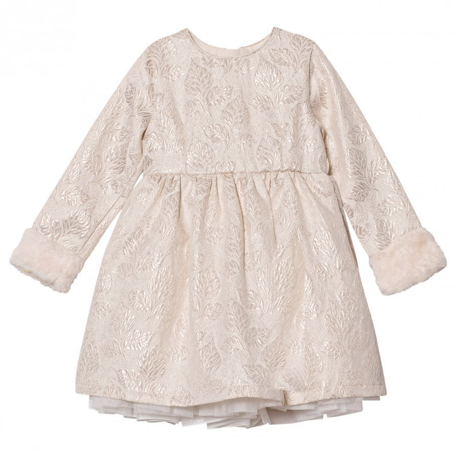 Billieblush Cream Jacquard Dress Mekko