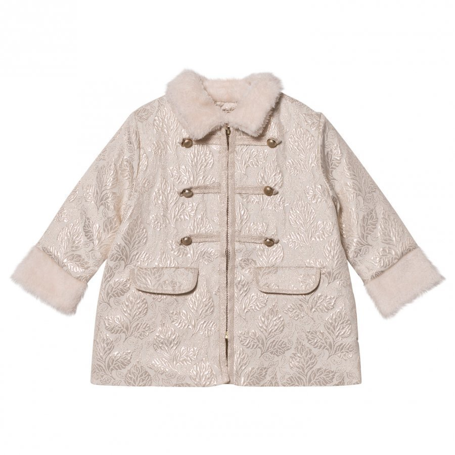 Billieblush Cream Jacquard Military Coat Armeijatakki