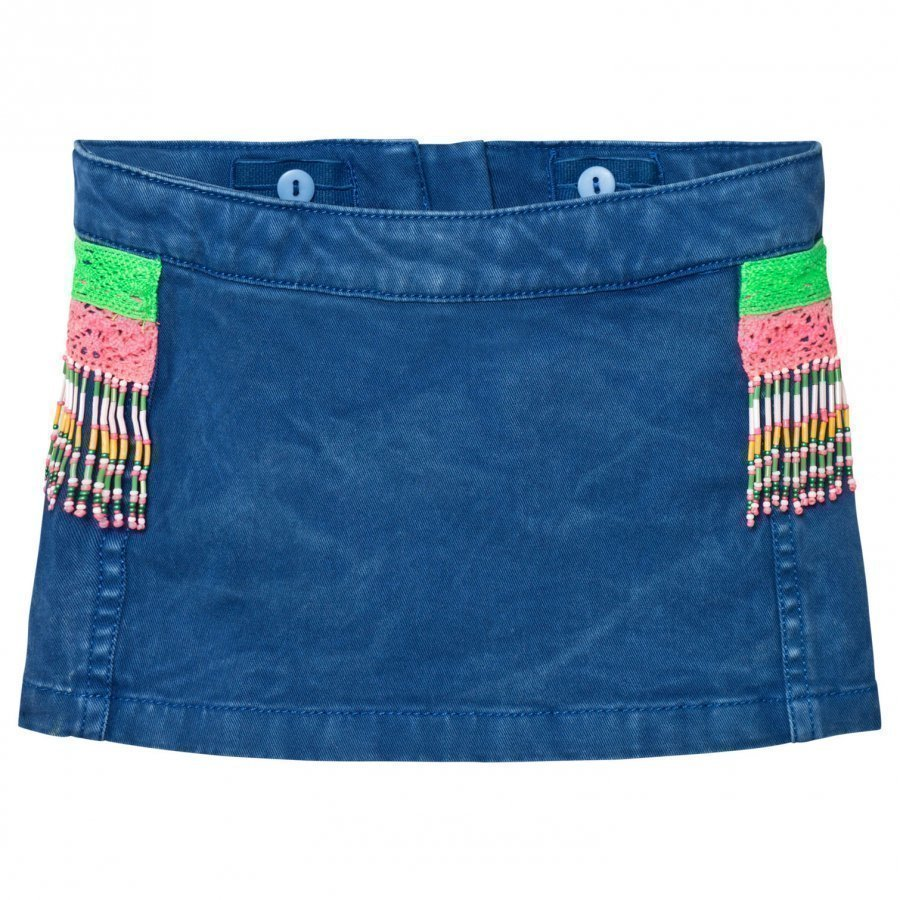 Billieblush Denim Acid Skirt With Bead Detailing Lyhyt Hame