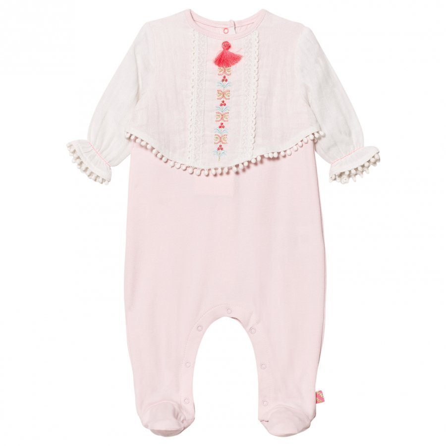 Billieblush Footed Baby Body Pink/White Body