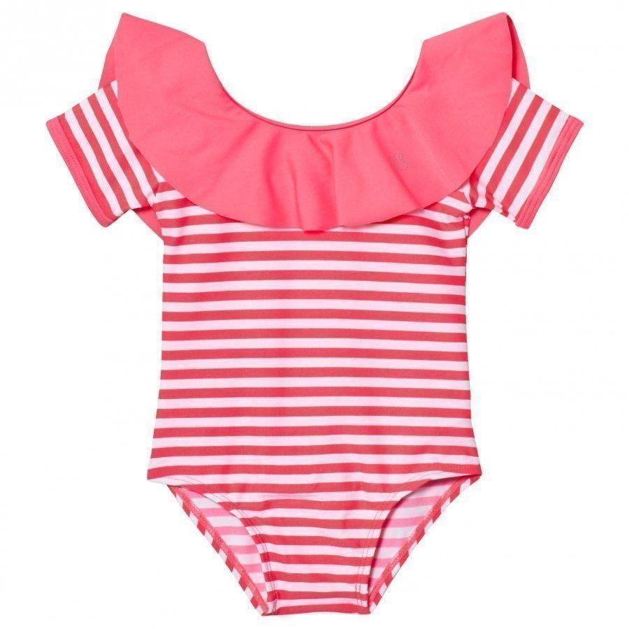 Billieblush Fuchsia Frill Collar Swimsuit Uimapuku