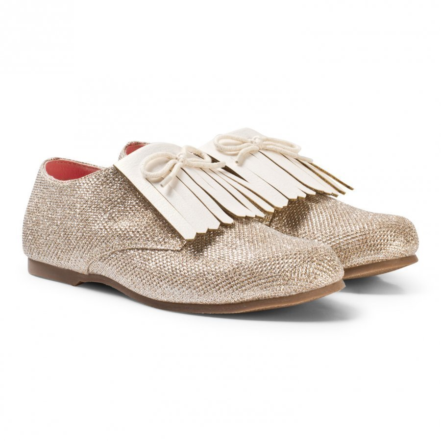 Billieblush Glitter Fringed Shoes Gold Brogue Kengät