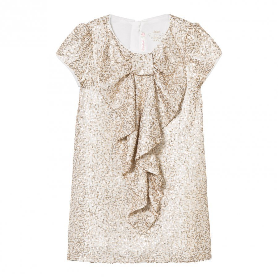 Billieblush Gold Sequin Bow Front Dress Juhlamekko