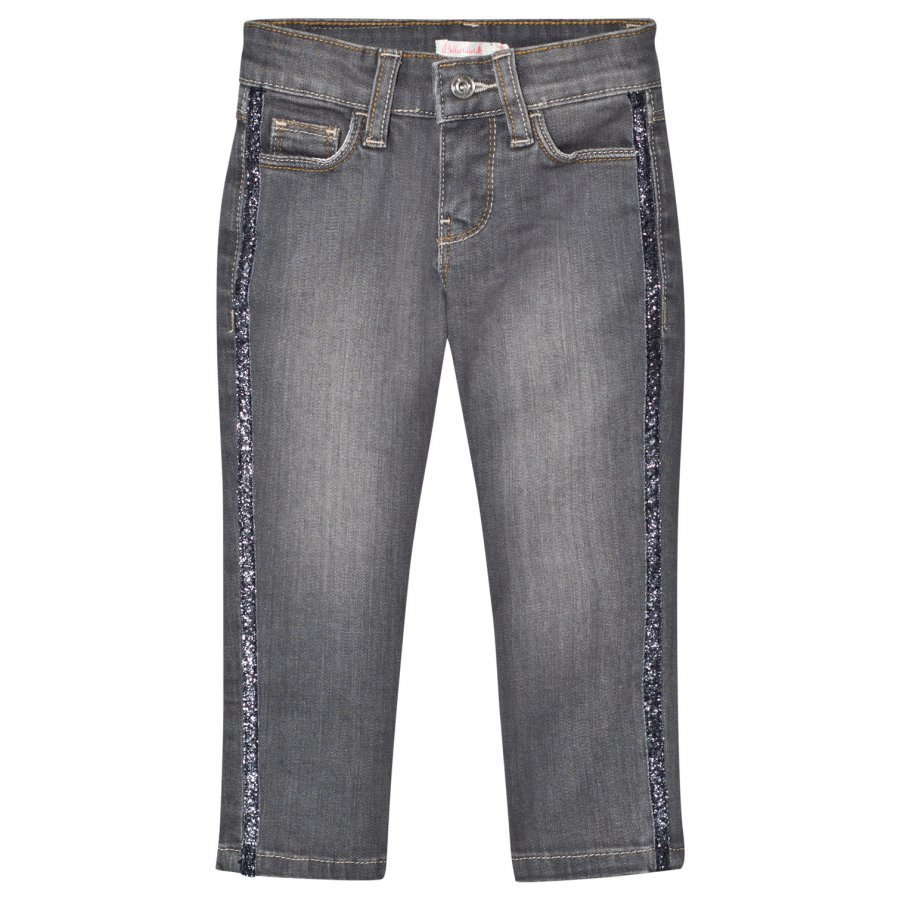 Billieblush Light Wash Slim Fit Jeans With Glitter Trim Farkut