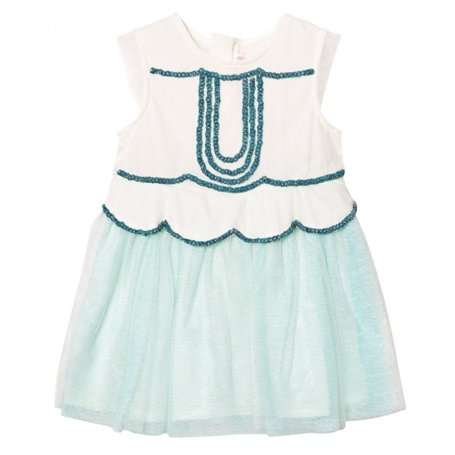 Billieblush Mint Tulle Sequin And Embellished Dress Mekko