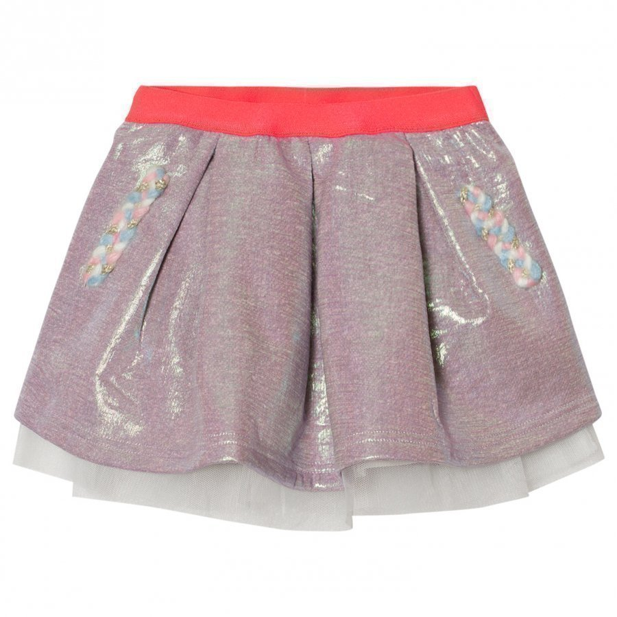 Billieblush Multi Iridescent Sweat Skirt Lyhyt Hame