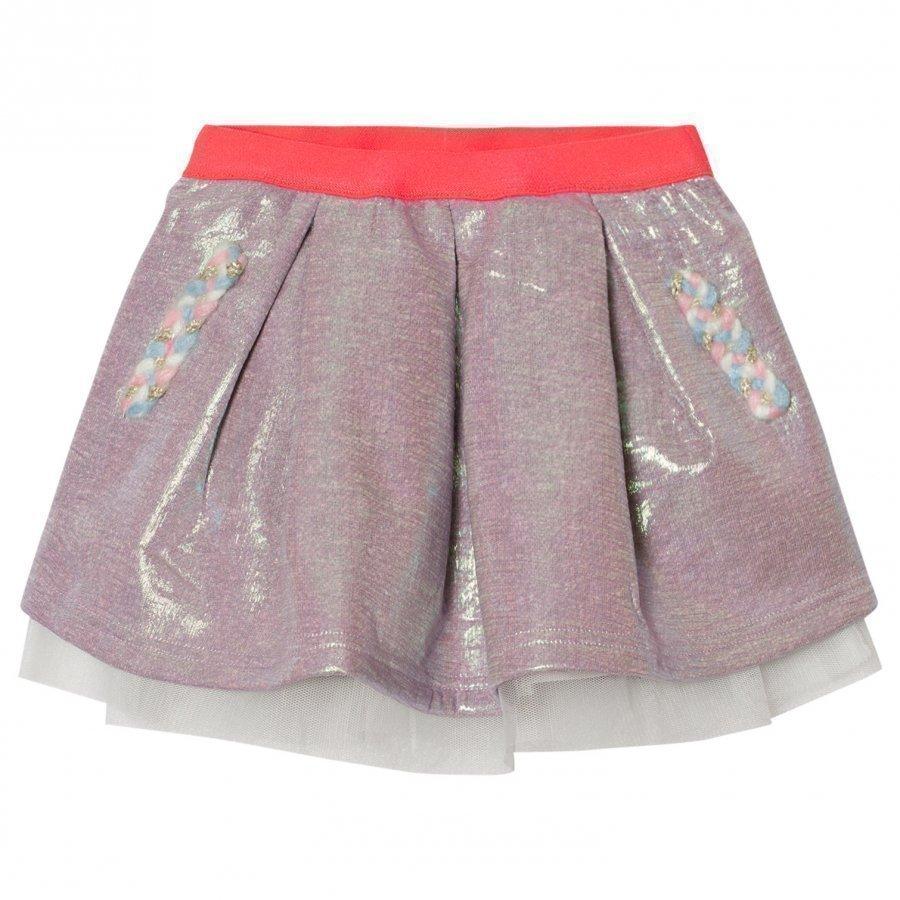 Billieblush Multi Iridescent Sweat Skirt Lyhyt Hame