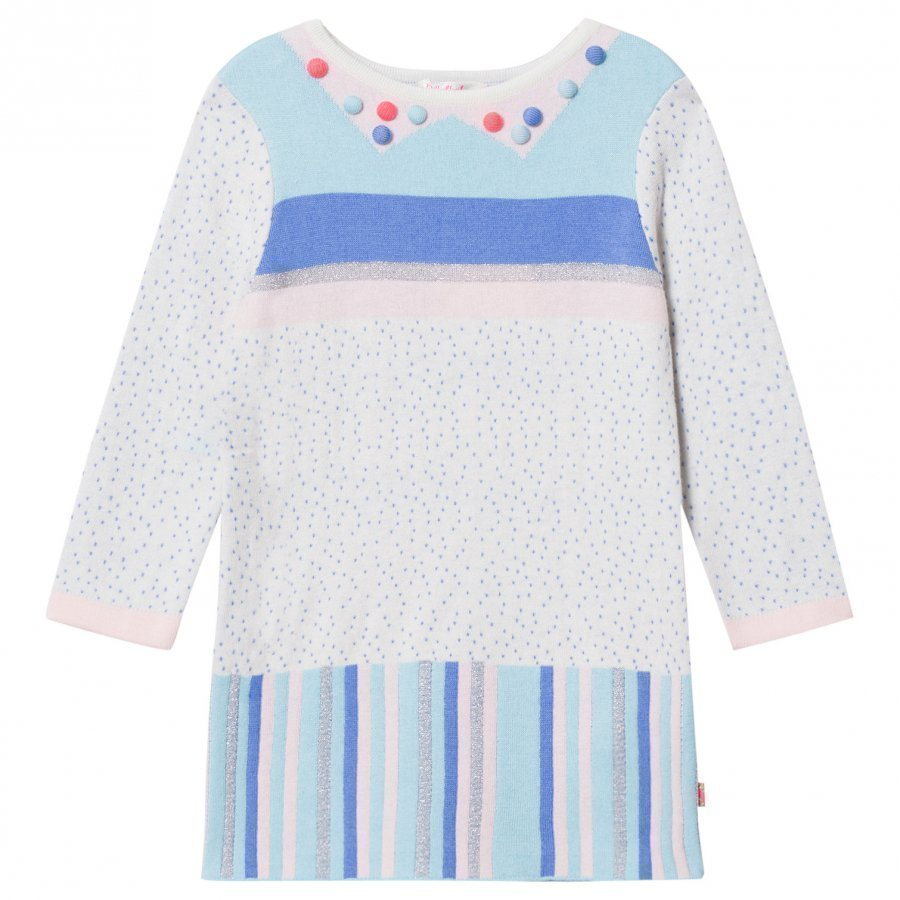 Billieblush Multi Patterned Knit Pom Pom Dress Mekko