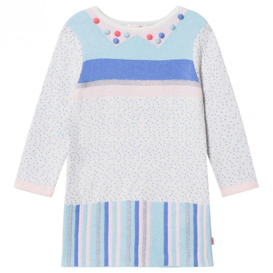 Billieblush Multi Patterned Knit Pom Pom Dress Mekko