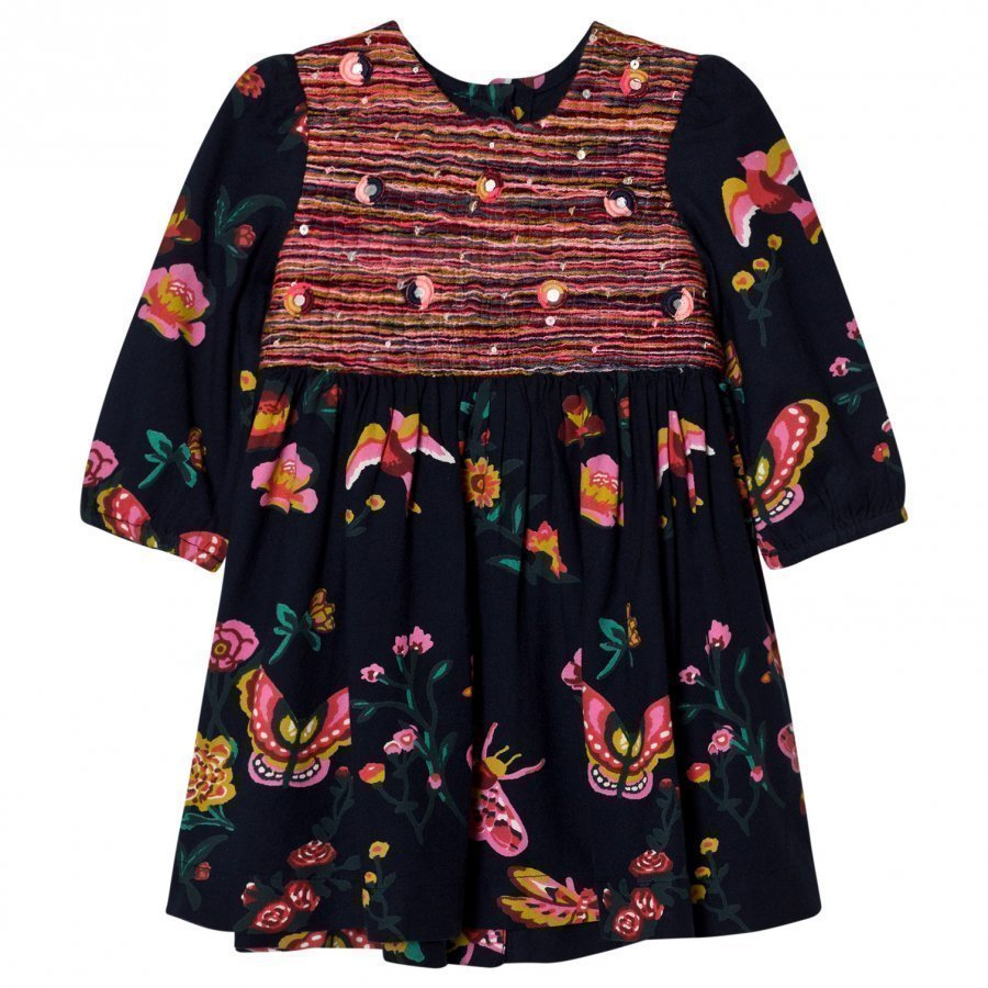 Billieblush Navy Floral Print Dress Mekko