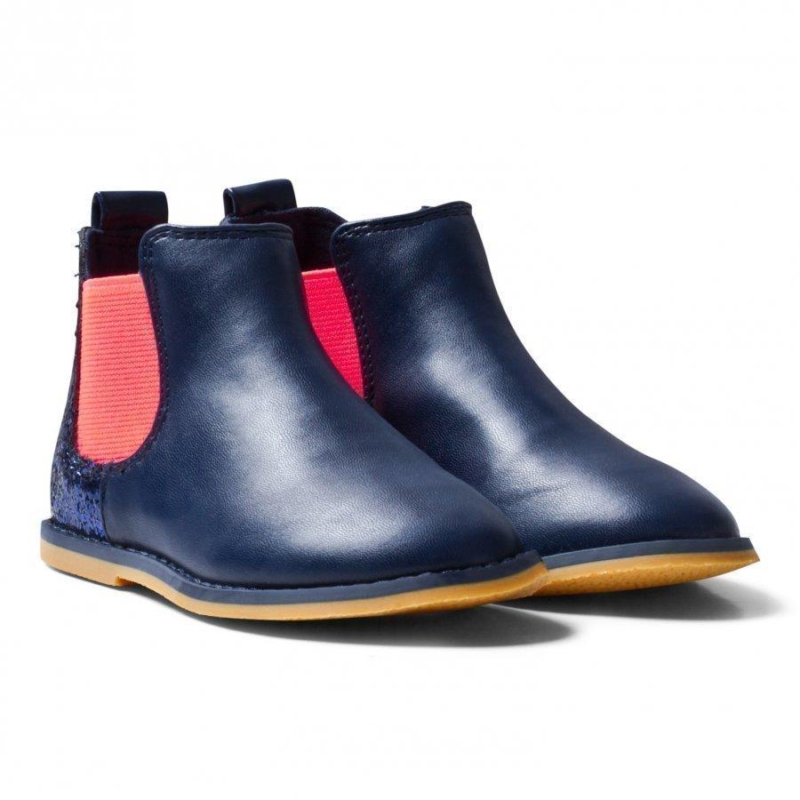 Billieblush Navy Glitter Back Chelsea Boot Vauvan Tossut
