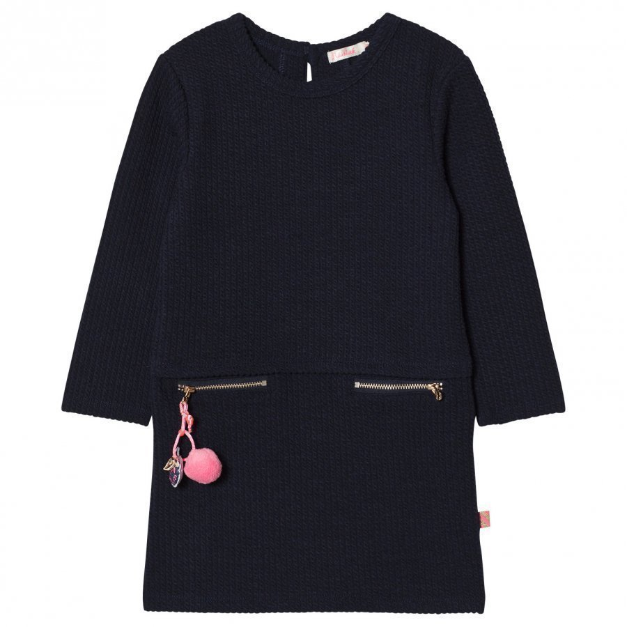 Billieblush Navy Pom-Pom Detail Jumper Dress Mekko