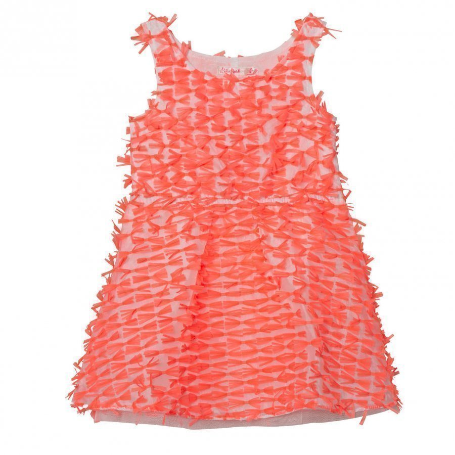 Billieblush Neon Pink Organza All Over Bow Dress Juhlamekko