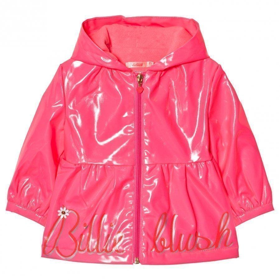 Billieblush Neon Pink Rain Coat Sadetakki