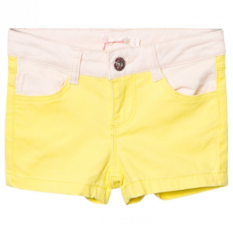 Billieblush Neon Yellow And Pink Denim Shorts Farkkushortsit