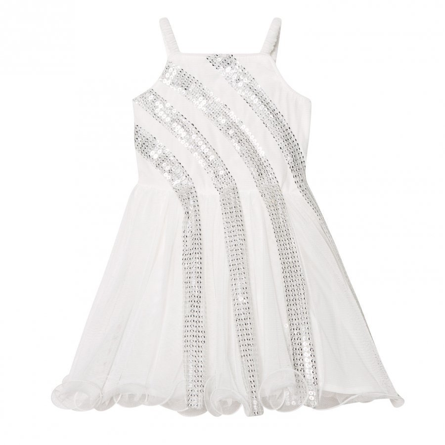Billieblush Off-White Sequin Detail Party Dress Mekko