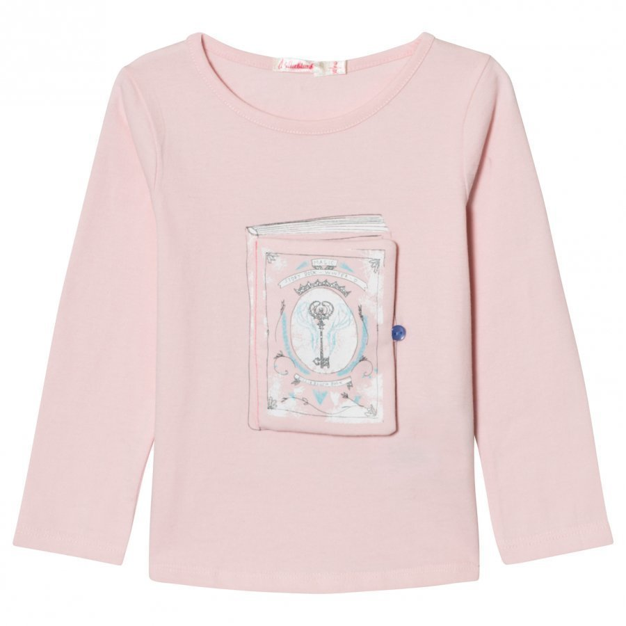 Billieblush Pale Pink Book Applique Tee T-Paita