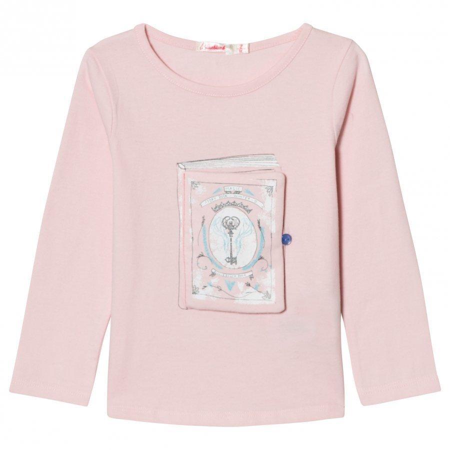 Billieblush Pale Pink Book Applique Tee T-Paita