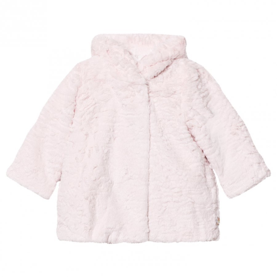 Billieblush Pale Pink Faux Fur Coat Turkis