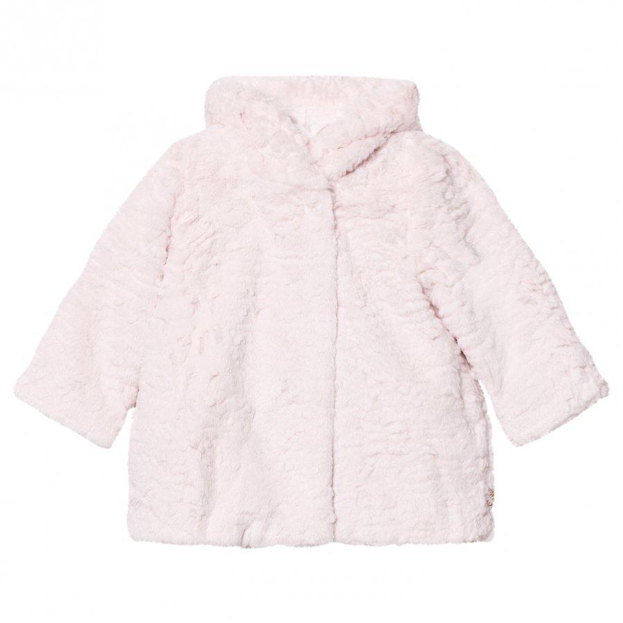 Billieblush Pale Pink Faux Fur Coat Turkis