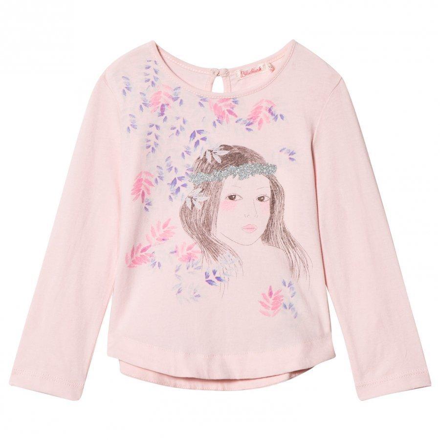 Billieblush Pale Pink Floral Girl Print Tee T-Paita