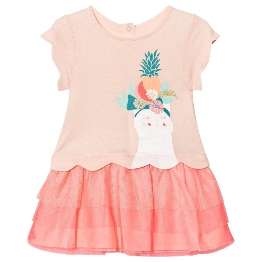 Billieblush Pale Pink Glitter Cat Print Tutu Dress Ballerinamekko
