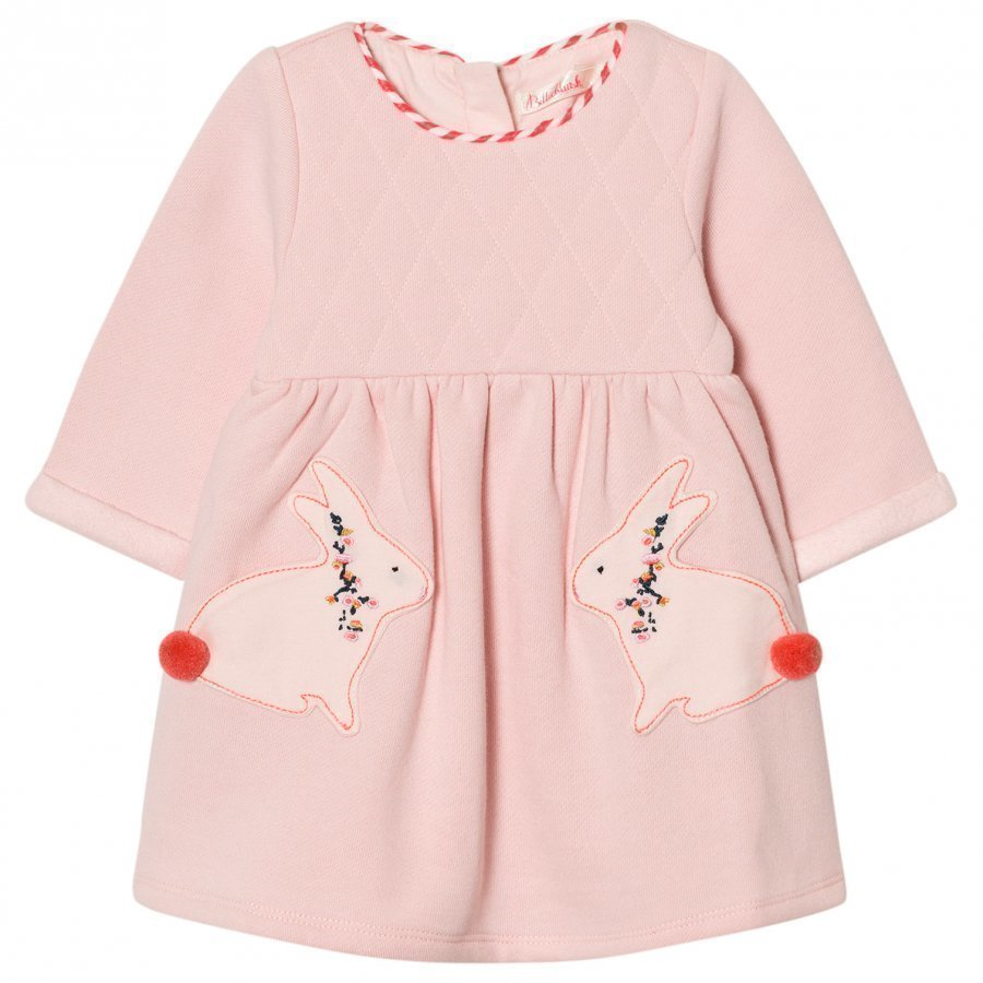 Billieblush Pale Pink Quilted Bunny Dress Mekko
