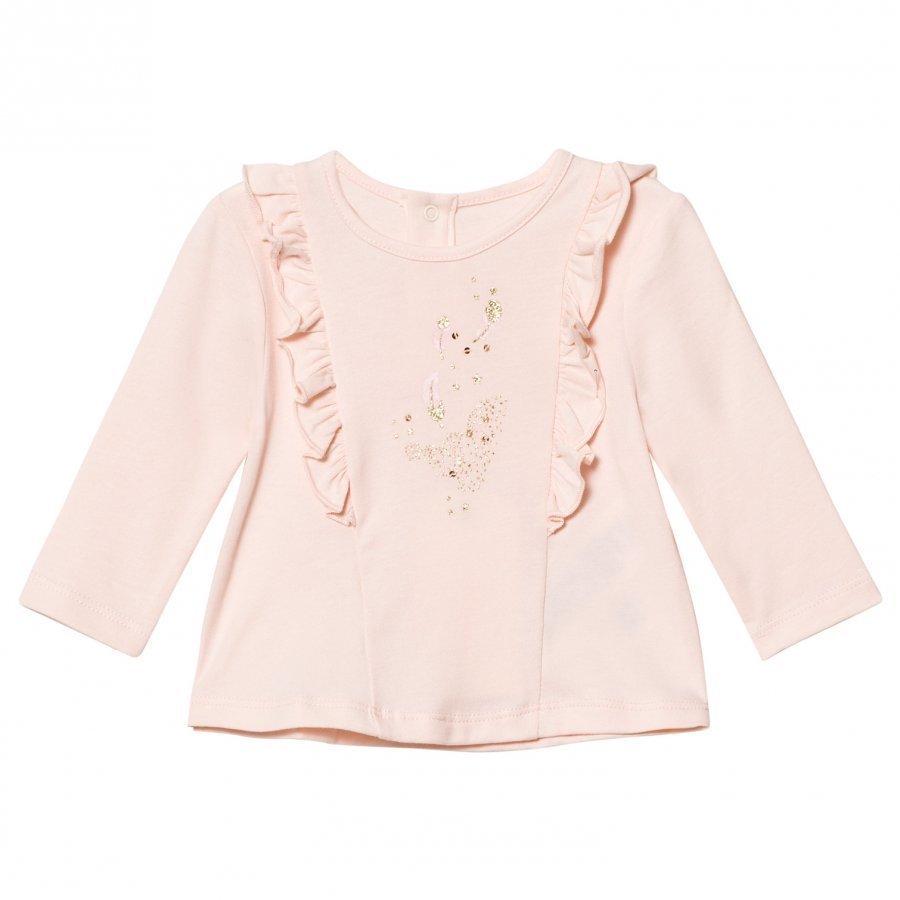 Billieblush Pale Pink Ruffle Tee T-Paita