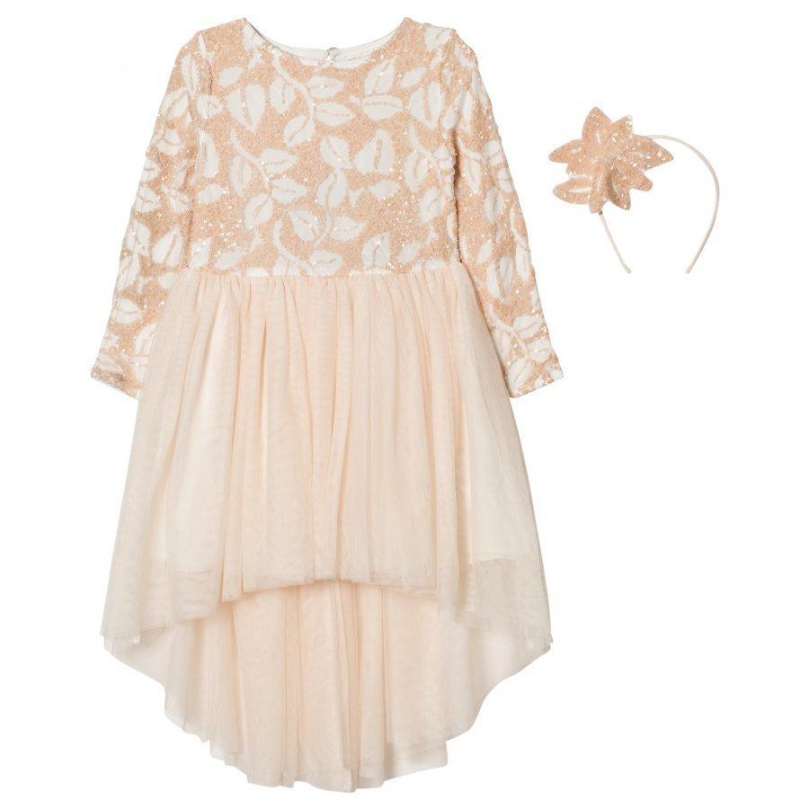 Billieblush Pale Pink Sequin Tulle Dress Mekko