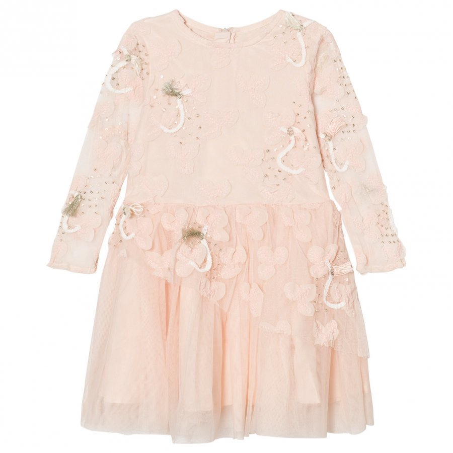 Billieblush Pale Pink Tulle Sequins Embroidered Dress Juhlamekko