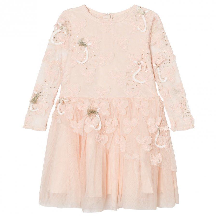 Billieblush Pale Pink Tulle Sequins Embroidered Dress Juhlamekko