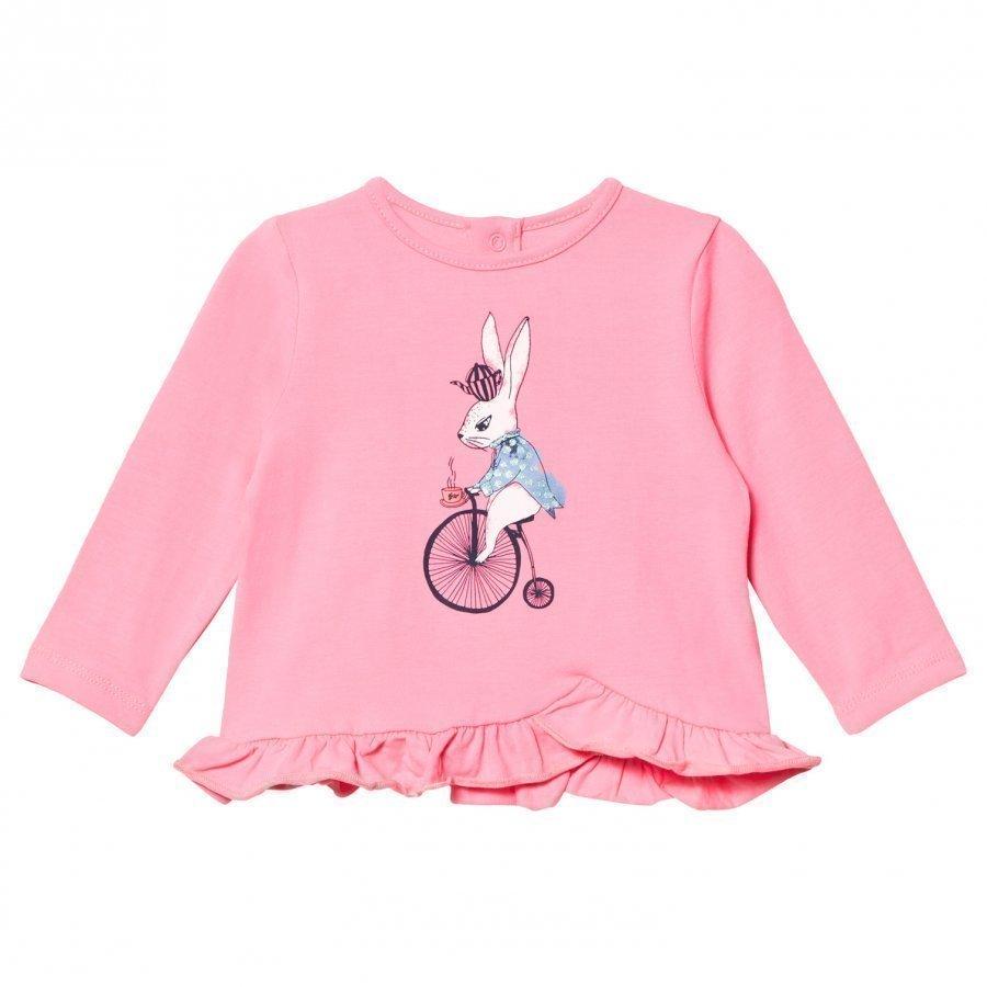 Billieblush Pink Bunny On Bike Tee T-Paita