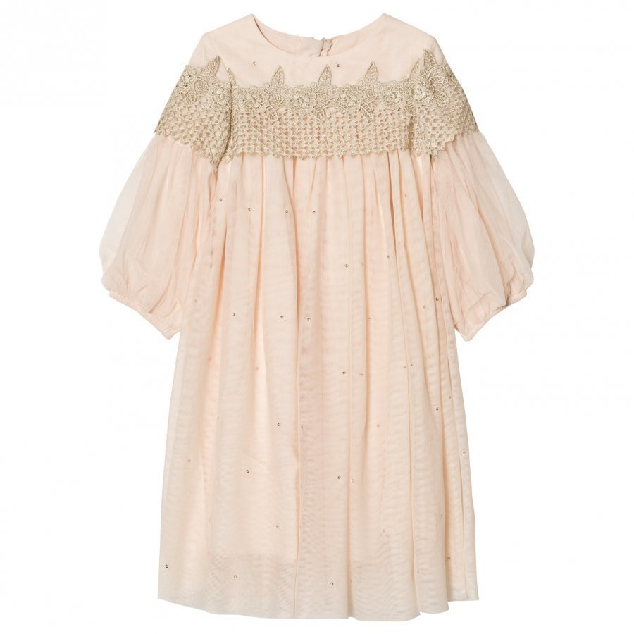 Billieblush Pink Embellished Tulle Dress Mekko
