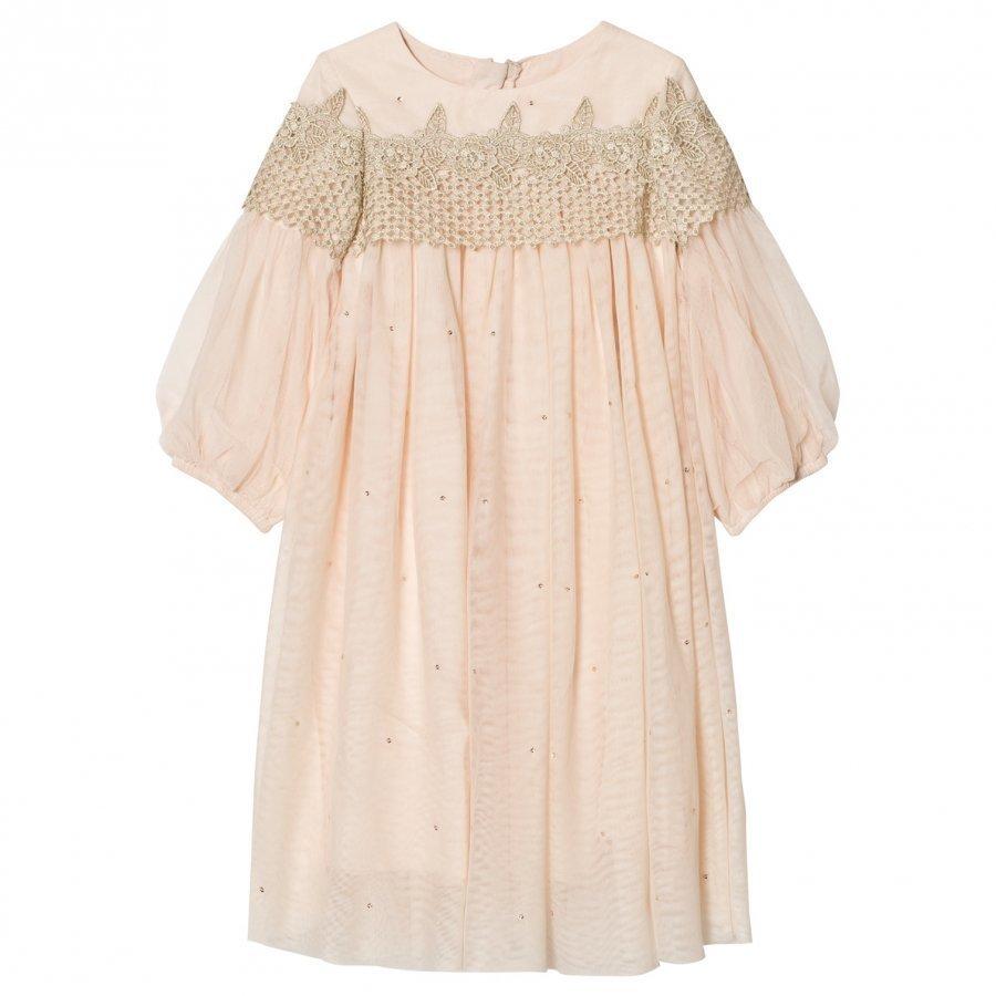 Billieblush Pink Embellished Tulle Dress Mekko