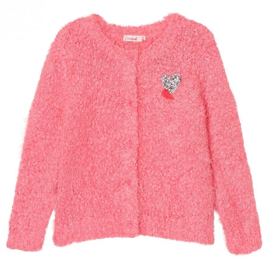 Billieblush Pink Fluffy Knit Cardigan Neuletakki
