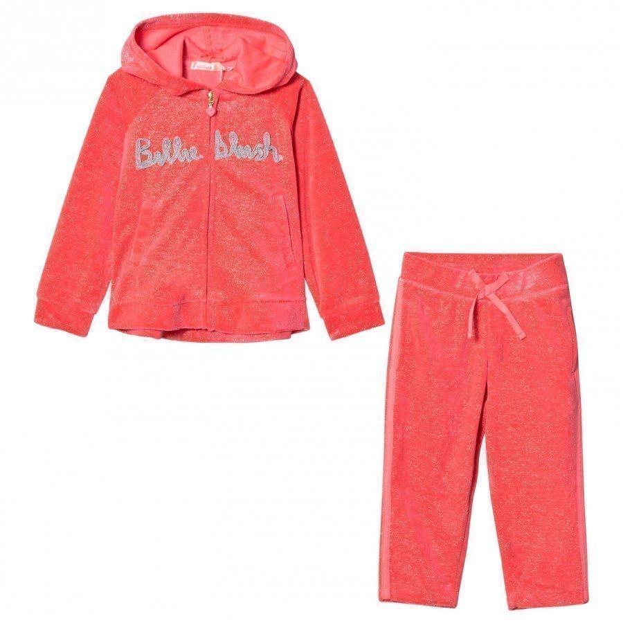Billieblush Pink Glitter Logo Tracksuit Verryttelyasu