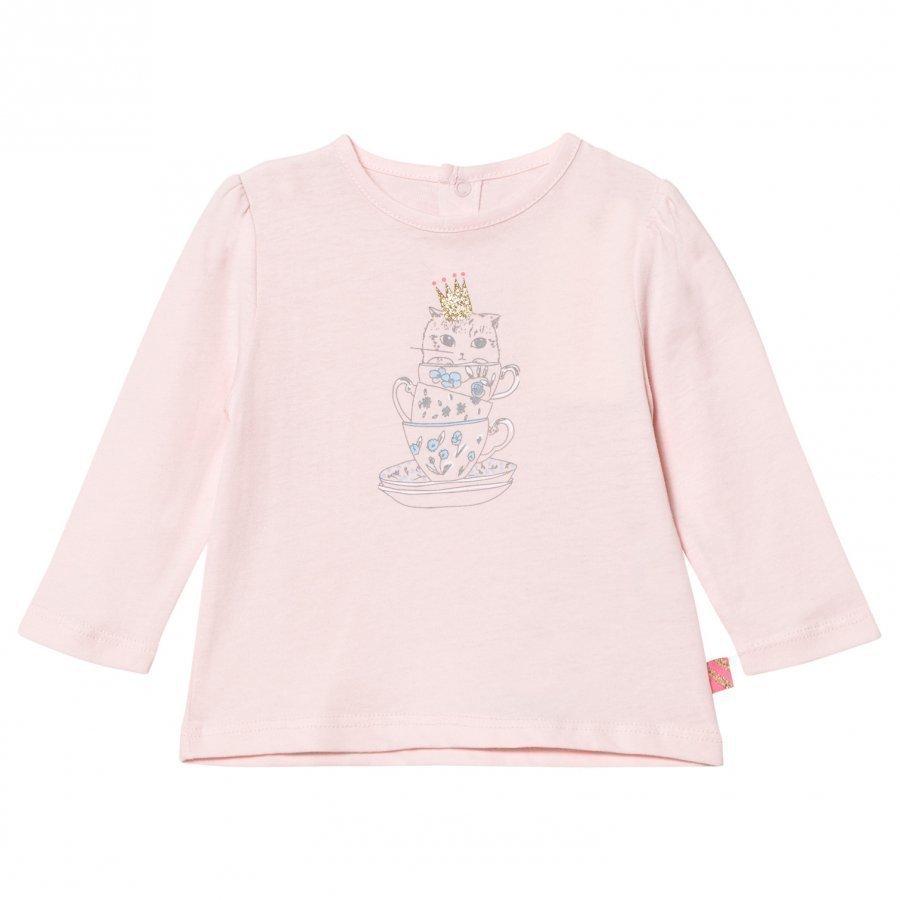 Billieblush Pink Gold Bird Print Tee T-Paita