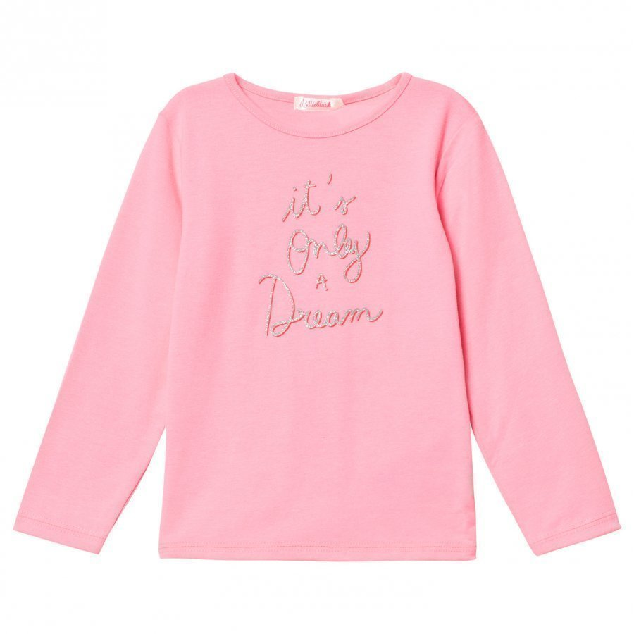 Billieblush Pink It´S Only A Dream Glitter Slogan Tee T-Paita