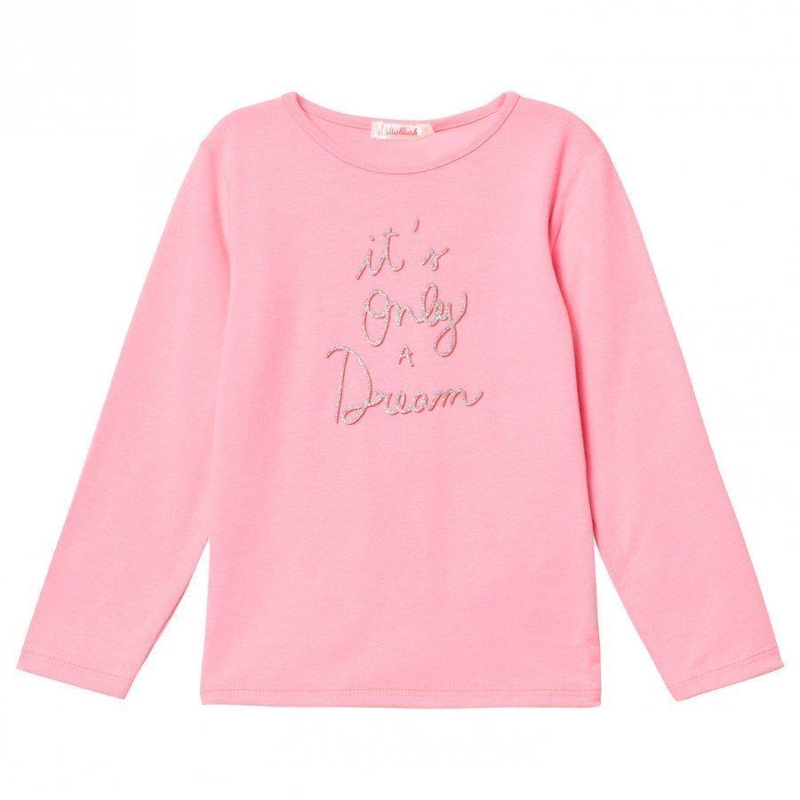 Billieblush Pink It´S Only A Dream Glitter Slogan Tee T-Paita