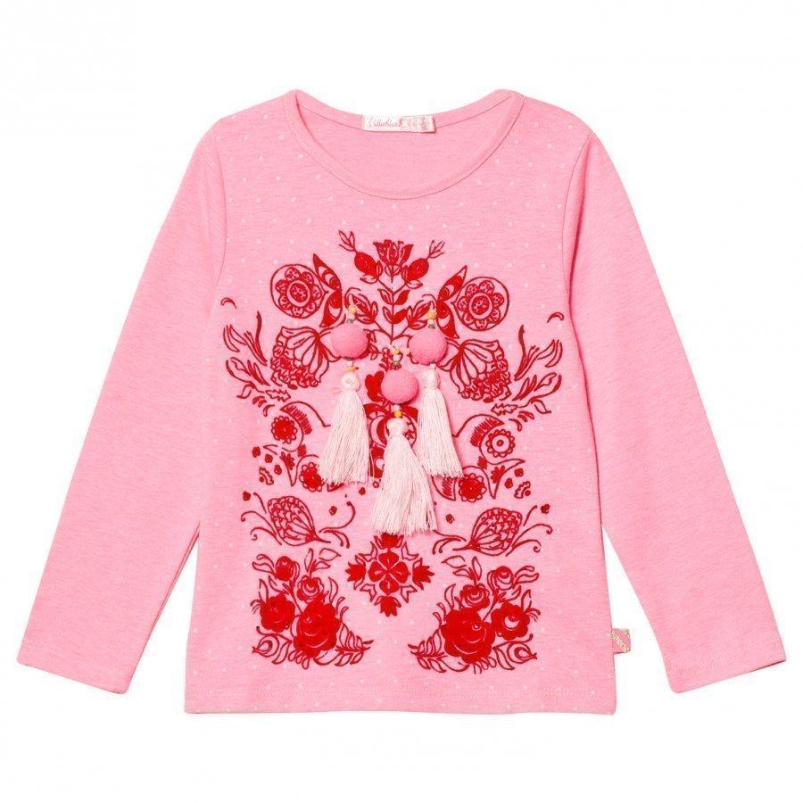 Billieblush Pink Pom Pom Tassle Tee T-Paita