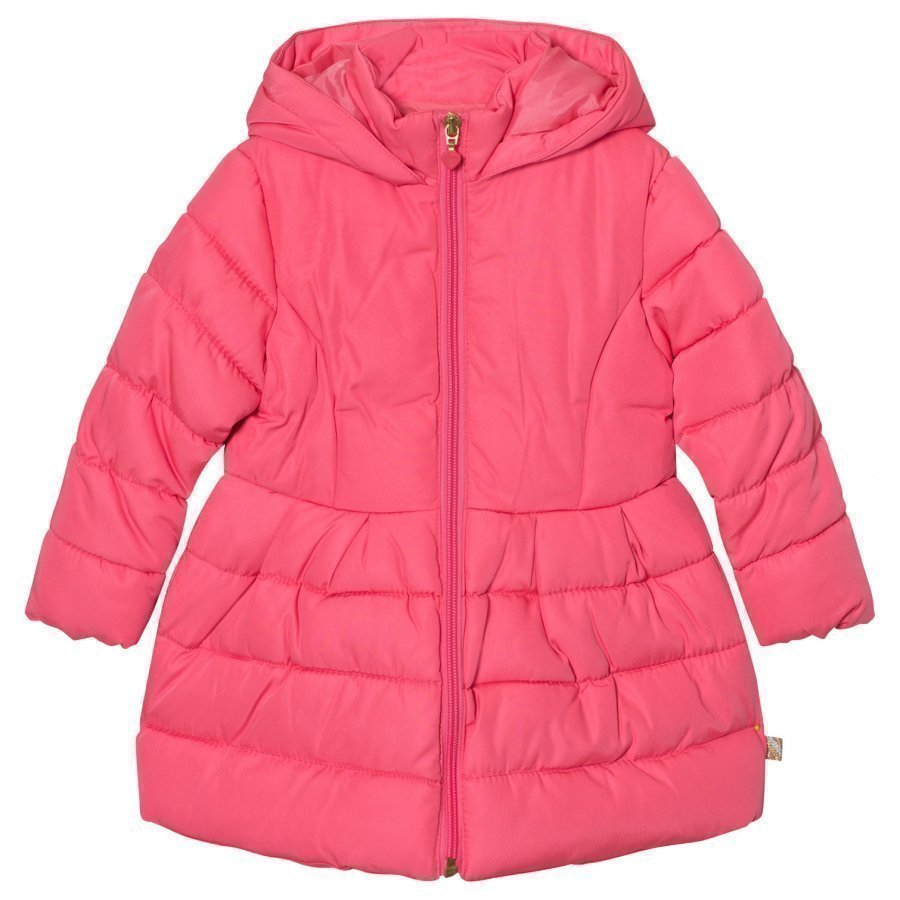 Billieblush Pink Puffer Jacket Sequin Detail Toppatakki