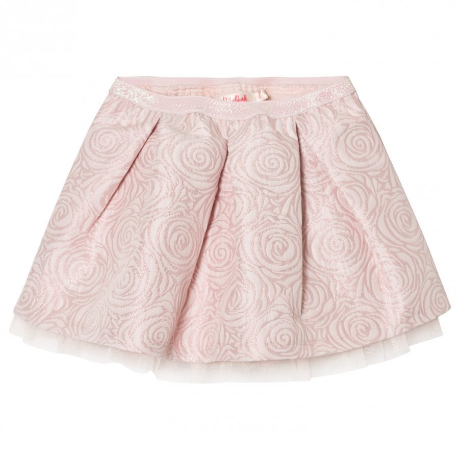 Billieblush Pink Rose Jacquard Skirt Lyhyt Hame