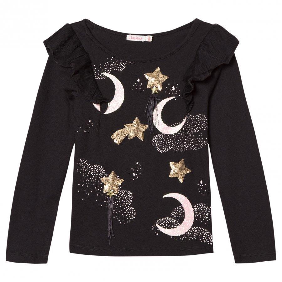 Billieblush Sequin Moon Stars Print Tee T-Paita