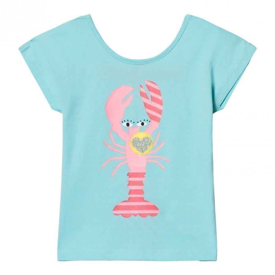 Billieblush Turquoise Lobster Print Tee T-Paita