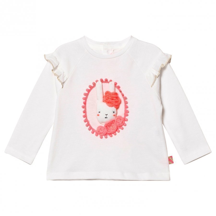 Billieblush White 3d Applique Bunny Tee T-Paita